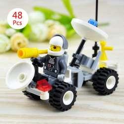 Моделирование космических кораблей модели 48 шт. Детский подарок DIY игрушки четыре колеса космических кораблей