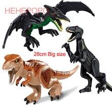 Big Size Free Shipping Single Dinosaurs Building Block T-Rex Raptor Pterosaur Triceratops Dinosaur Figures Bricks Toys