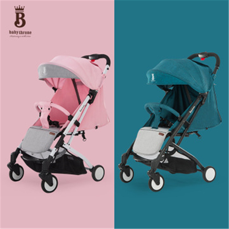 BABYTHRONE free shipping 2018 Lightweight Baby buggy one hand folding baby stroller infant carriage for 0