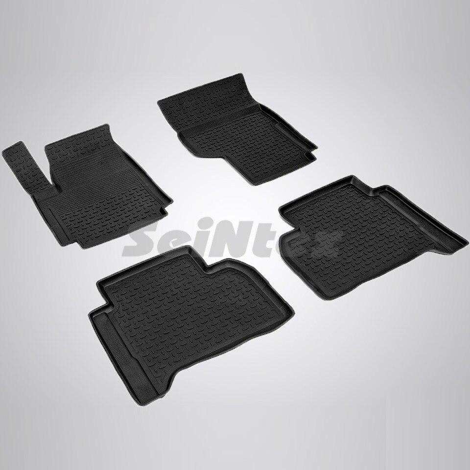Rubber floor mats for Volkswagen Amarok (2010-2018) Seintex 83775 rubber floor mats for volkswagen amarok 2010 2018 seintex 83775