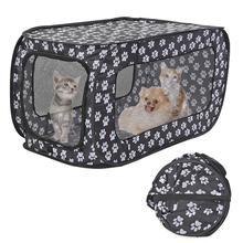 Portable Folding Pet Tent Houses Foldable Pet Fence Cat Dog Travel Cage