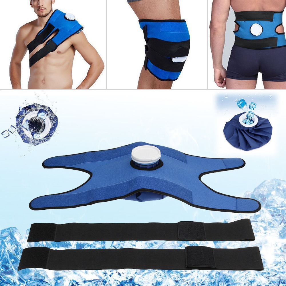 Reusable Ice Bag Cold Pack For Injuries Neck Knee Pain Relief+A Set Bandage Health Care Knee/ Head/ Leg/ Body Muscle Cooler Bags