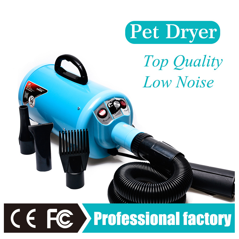 Powerful pet dryer dog hair blaster cheap  pet grooming machine Adjustable speed and temperature 220V/110V EU AU US plug CE  2017 new 5 in 1 sets brand cheap dog grooming dryer cheap pet hair dryer blower 220v 110v 2400w eu plug pink blue color