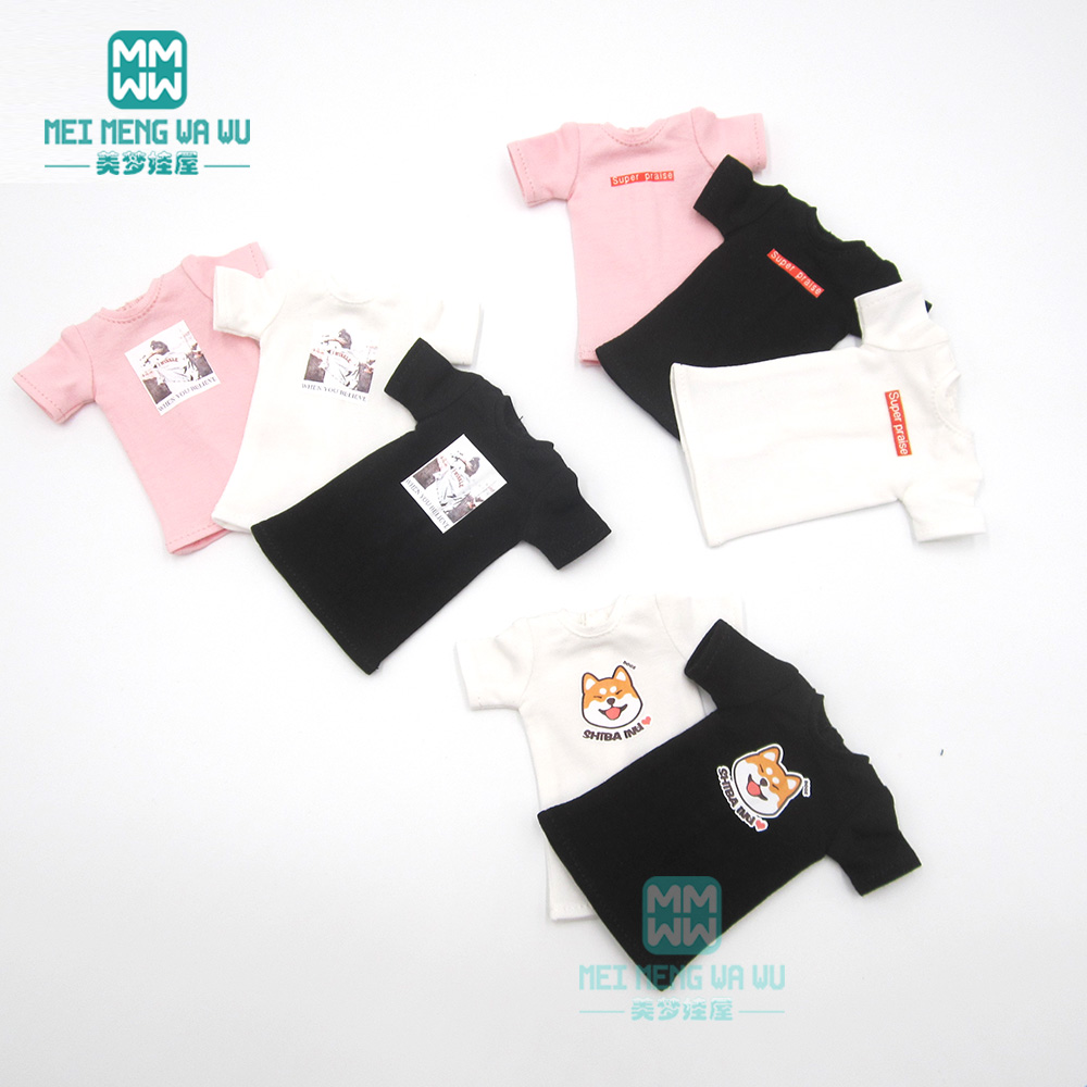 1PCS Blyth Doll Clothes Fashion Print Long T-shirt, Headband, Socks For Blyth , Azone1/6 Doll Accessories