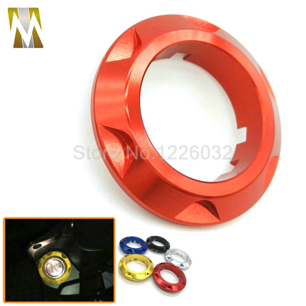 Motocicleta cnc de aluminio anillo de accesorios de la motocicleta pegatinas de