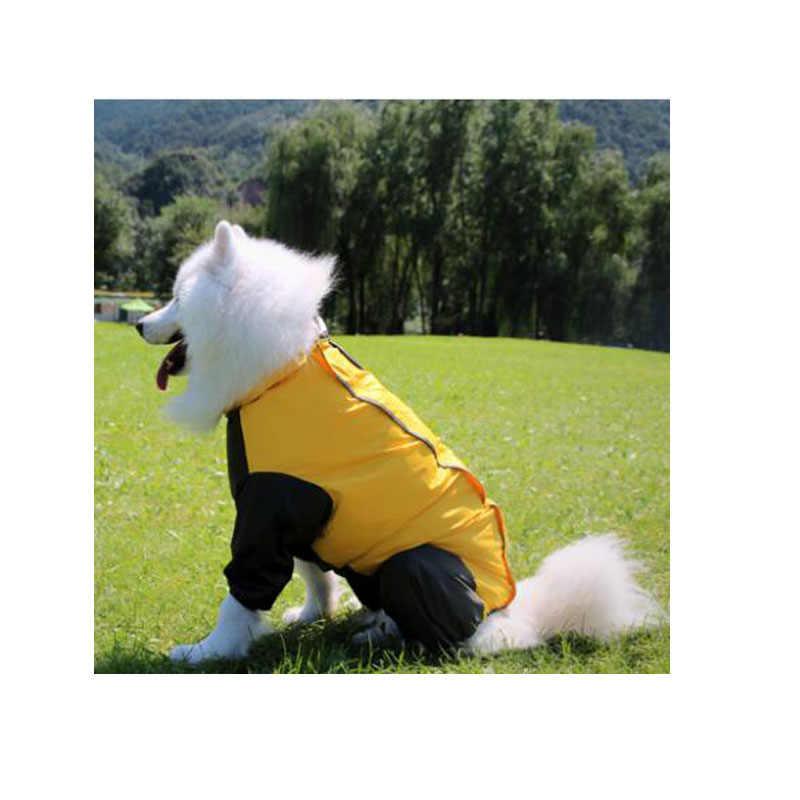 Дождевик для больших собак Одежда ретривера Лабрадора водонепроницаемый капюшон верхняя одежда для больших собак куртка-дождевик комбинезон костюм комбинезоны для девочек 20