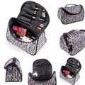 New Fashion Portable Waterproof Women Makeup Bag Make Up Storage Organizer Box Beauty Case Travel Pouch Zebra