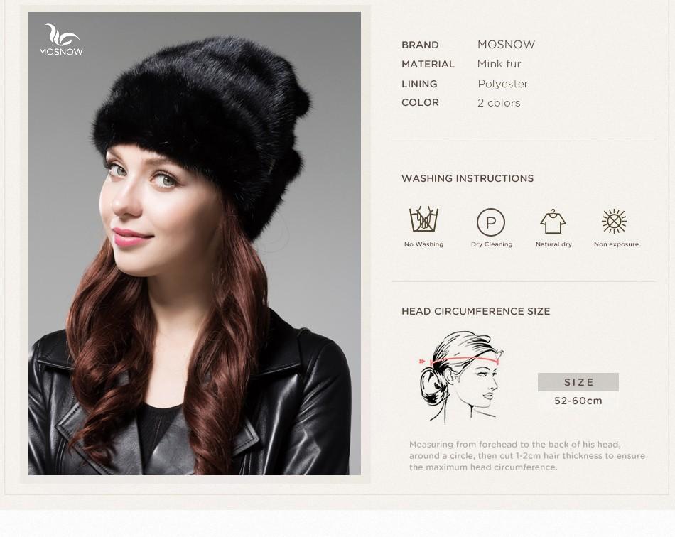 mink fur winter hats for women PCM028 (5)