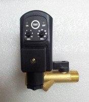 Автоматический воздушный компрессор с электронным таймером конденсата Автоматический сливный клапан 220 В 1/2