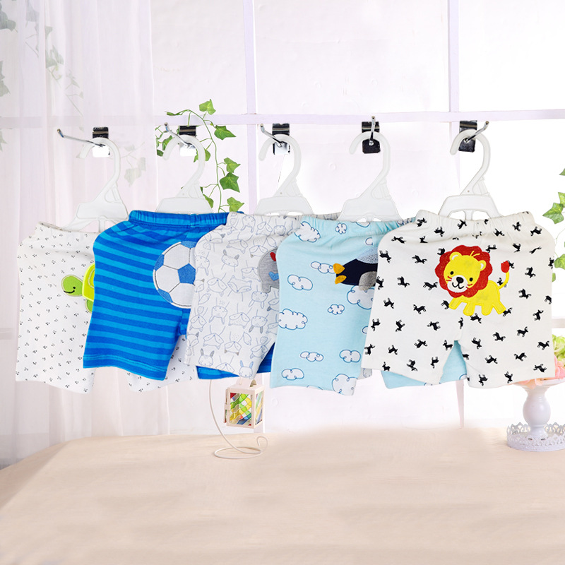 5 STKS / A Pack0-24MBaby Broek Zomer Katoen Pasgeboren Shorts Cartoon - Babykleding - Foto 4