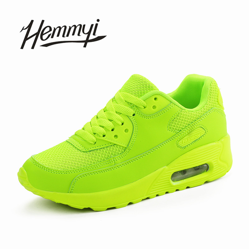 Hemmyi 2018 Femmes Sneakers Été Respirant Mesh Chaussures de Marque pour Femme Noir Vert Rouge Tenis Feminino Dames Panier De Chaussures Femme