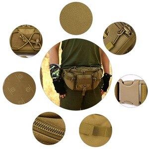 Image 3 - חדש גברים ירך חבילות חיצוני עמיד למים תיק זכר טקטי מותן תיק Molle מערכת פאוץ חגורה Bagpack ספורט שקיות צבאי