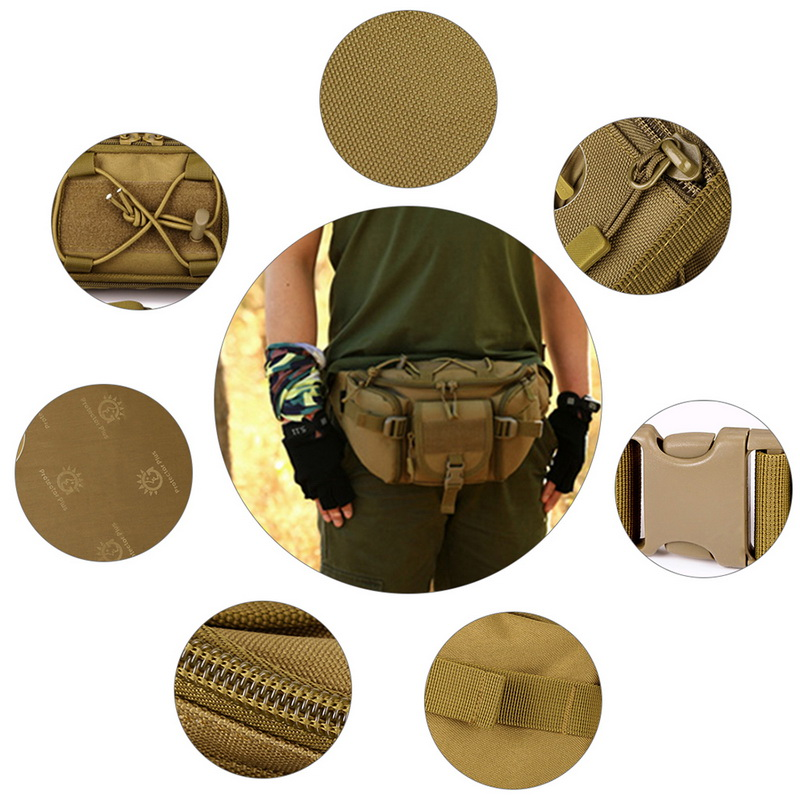 Image 3 - New Men Hip Packs Outdoor Waterproof Bag Male Tactical Waist Bag Molle System Pouch Belt Bagpack Sports Bags Military-in Waist Packs from Luggage & Bags