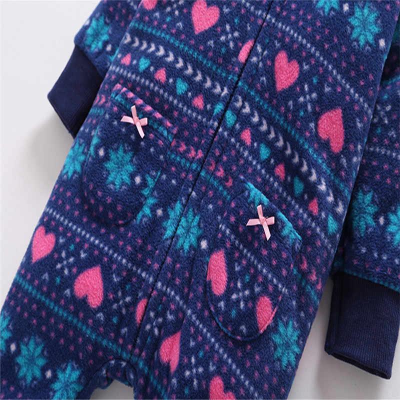 e4cc9e7021a5 ... 2018 новые детские комбинезоны с принтом зимние толстые теплые носки  для маленьких мальчиков Одежда для девочек