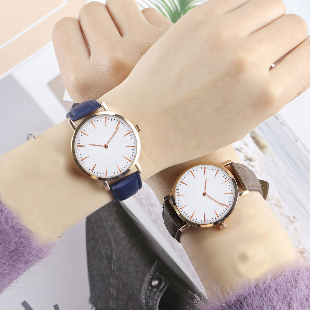 <font><b>Fashion</b></font> <font><b>Unisex</b></font> <font><b>Montre</b></font> <font><b>Femme</b></font> <font><b>Reloj</b></font> <font><b>Mujer</b></font> <font><b>Leather</b></font> Stainless Men's Watch Wholesale Quartz Wrist Women Watches Hot Fast Shipping image