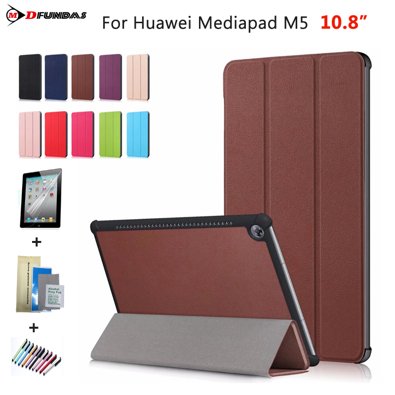 Case On For Huawei Mediapad M5 10.8 Cases For Huawei M5 10.8 Cover CMR-AL09 E09 Smart Flip Leather Stand Tablet Funda стоимость