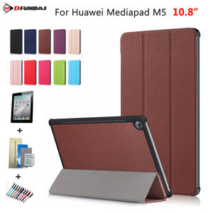 Case For Huawei Mediapad M5 10.8 Cases Cover On CMR-AL09 E09 Smart Flip Leather Stand