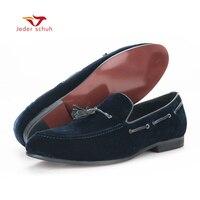 Осенне зимняя обувь с хлопчатобумажными стельками тенденция случайных тепловых любителей Модные мужские мокасины бархатная обувь кеды