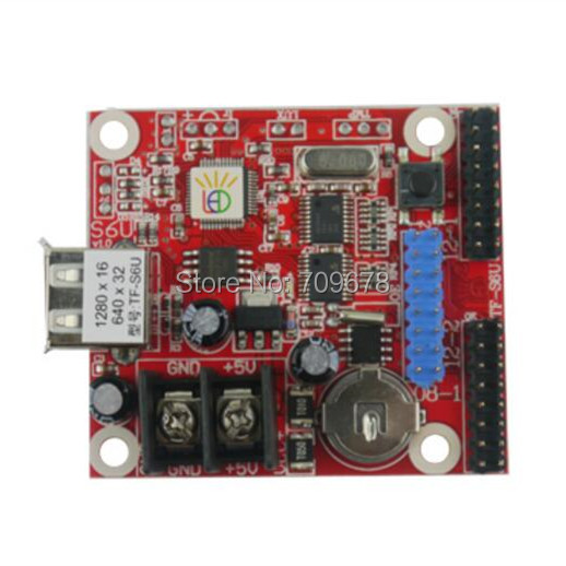 3pcs/lot Mini-card TF-S6U U-disk LED Display Controller Card , Small USB Driver Controller