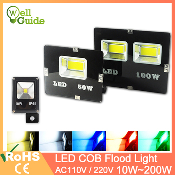 LED Flood Light 200W 150W 100W 50W 30W 20W 10W outdoor lighting led lamp IP65 Waterproof 220V 110V Smart IC No Driver led chip image