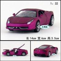 Gift voor baby 1 st 1:32 14 cm delicatesse super 458 sport auto akoestisch-optische legering model decoratie jongen speelgoed