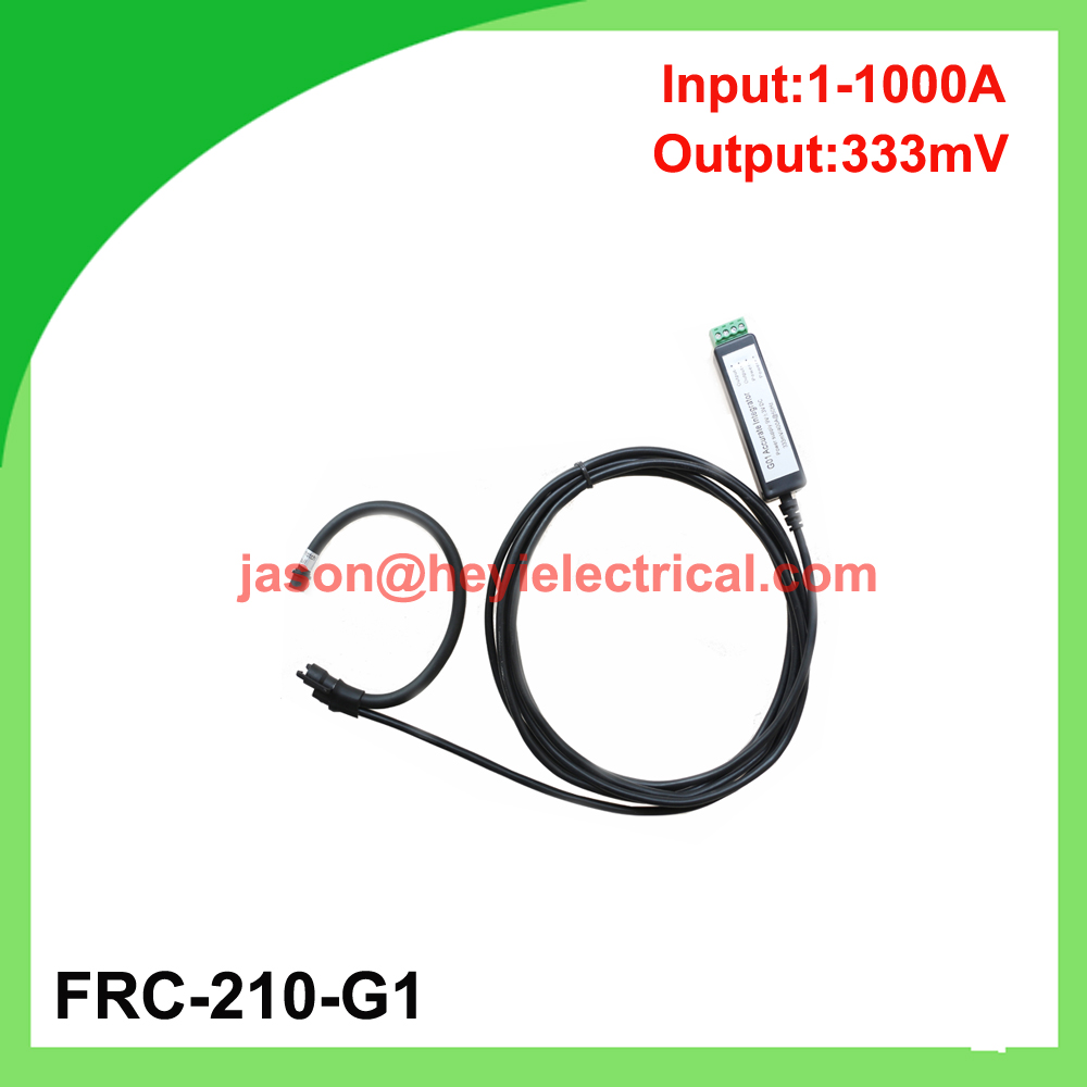 цена на China manufacturer Input 1000A FRC-210-G1 flexible rogowski coil with G1 integrator output 333mV split core current transformer