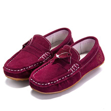 Children Peas Shoes Boys Genuine Leather Students Shoes Korean Version Brand Kids Shoes Baby Girls Casual Shoes KS160