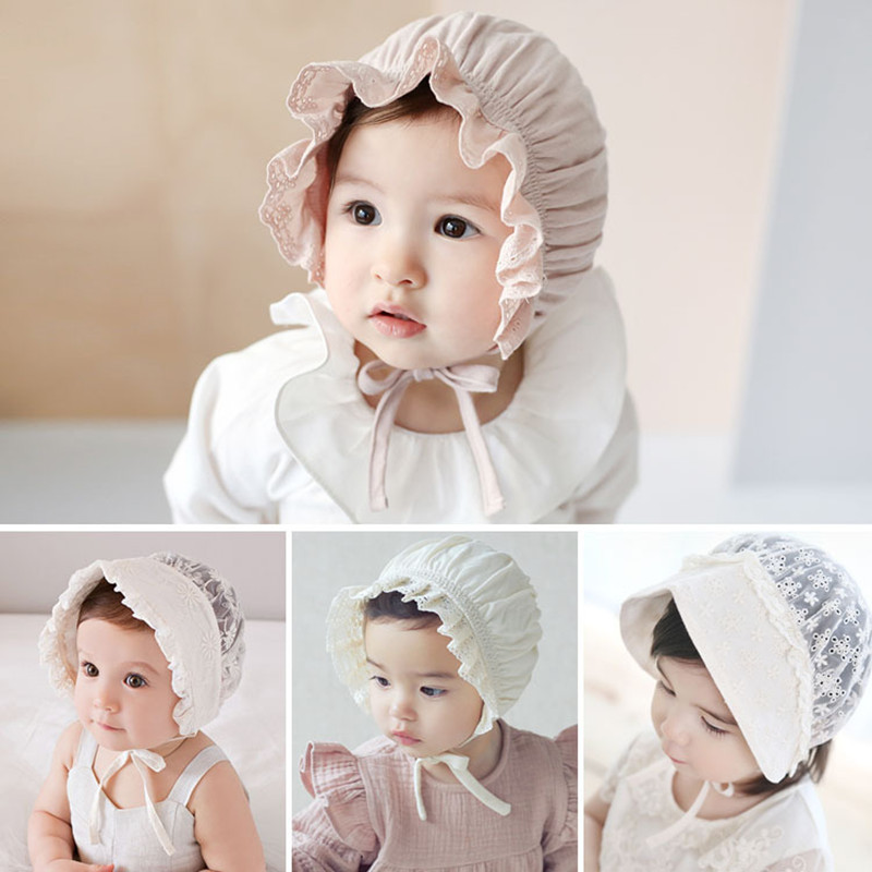 86e9013105f Baby Summer Hat Wide Brim Adjustable Girl Hat Pink Princess Children s  Birthday Party Baby Bonnet Newborn Photography Props