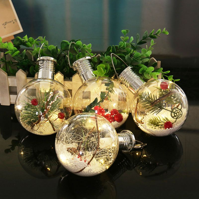 Solar Ball Bulb Hanging Lights Christmas Tree  Lights Party DIY Supplies