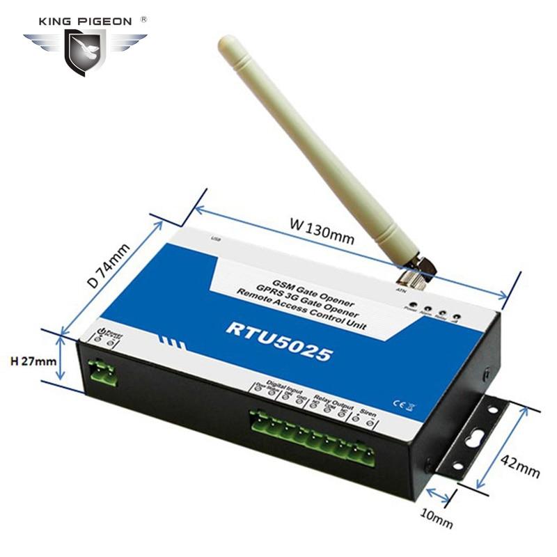 Ouvreur de porte GSM GPRS ouvre-porte de Date unité de contrôle d'accès à distance 999 utilisateurs ouvrir commutateur à distance système de porte de Garage RTU5025