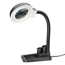 В 220 В, ремесла стекло светодио дный объектив LED настольная лупа свет лампы 5X 10X увеличительное рабочего лупа Ремонт Инструменты с светодио дный 40 LED s стенд(ЕС plug