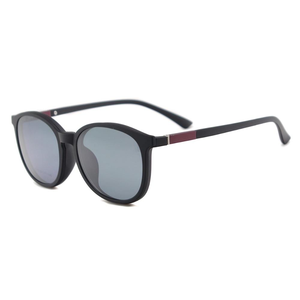 Flexible Kunststoff Vintage Runde Sonnenbrille Frauen Magnetische - Bekleidungszubehör - Foto 3