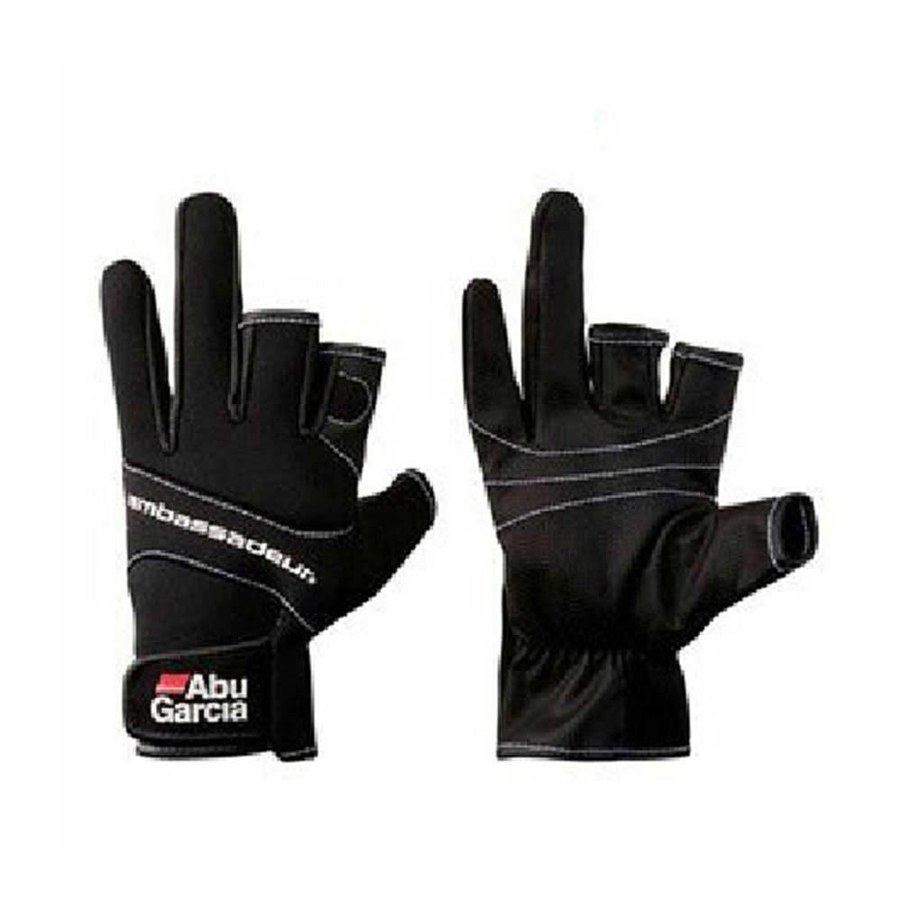 Gloves for fishing three figner High-quality Aub Garcia fabrics Comfort Anti-Slip Fishing Gloves Sports fishing glove недорго, оригинальная цена