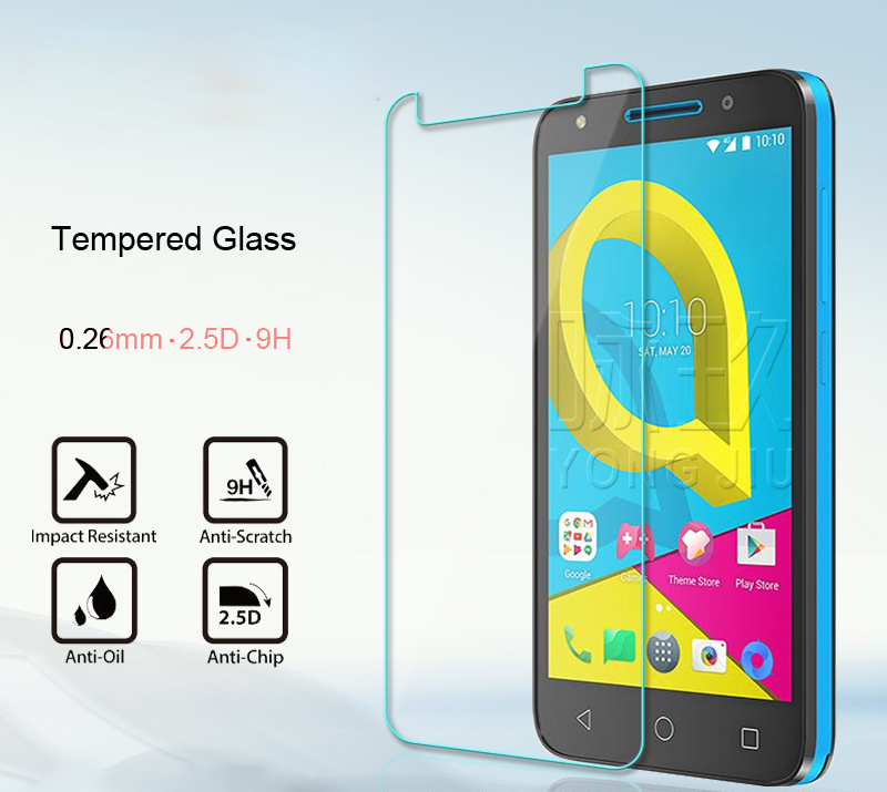 For Alcatel U5 U 5 3G 4047D 4047X 4047 OT-4047D Tempered Glass Screen Protector Film For U5 4G Lte U 5 5044D 5044Y 5044I 5044T