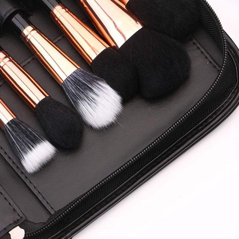 BEILI Black Professional 40 шт. набор кистей для макияжа мягкие натуральные щетинки смешивание порошка кисточка для бровей основа под макияж кисть - 3
