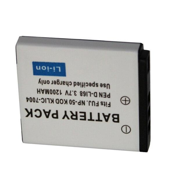 1200mAh NP-50 FNP 50 NP50 KLIC-7004 KLIC-7004 K7004 D-Li68 Digital Camera Battery For Fujifilm X10 X20 XF1 F50 F75 F665 F775 F85