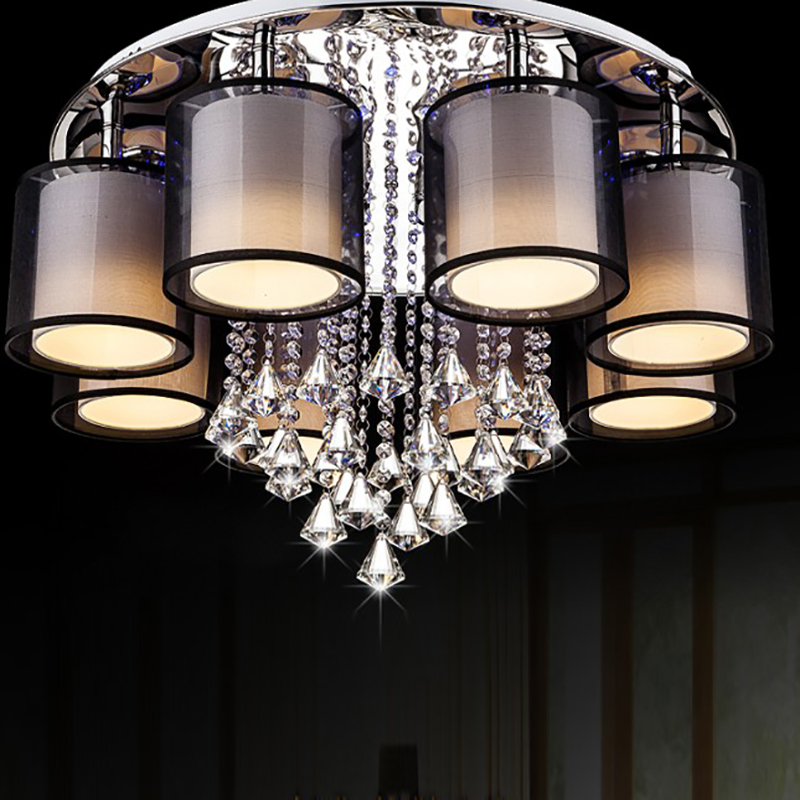 crystal Ceiling Lights Black living Room bedroom kitchen lamps Luminaria Lustre lampara de techo home Ceiling Lighting Fixtures crystal modern led ceiling lights for living room bedroom kitchen lustre lamparas de techo avize crystal ceiling lamp fixtures