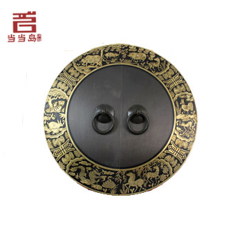 ФОТО Bronze Chinese antique Ming and Qing furniture, pure copper door handle DB-197 24CM
