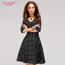 4b0a728eb S sabor de las mujeres Primavera Verano mini vestido 2019 Venta caliente de  la tela escocesa