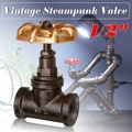 Industrial Lamp Stop Valve Light Switch For  Lamp Loft Style Iron Valve Vintage Table Lamp Water Pipe Fixtures Lighting|Desk Lamps|Lights & Lighting -
