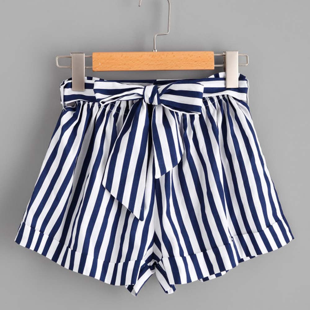 Womail Women Short Summer Stripe Loose Hot  Lady Summer Shorts Trousers De Deporte De Cintura Alta  J22