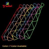 Модные вечерние украшения в стиле хип хоп, светящийся EL Wire, светящийся галстук светодиодный неоновые, флуоресцентные Галстуки, оптовая прод