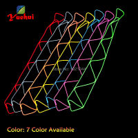 Fashion Hip hop Glow Party Decoration EL Wire Glowing Tie LED Neon Fluorescent Necktie Wholesale Product 30pieces