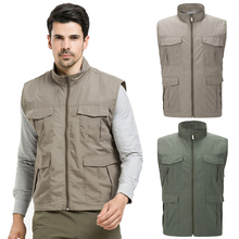 2017 New Spring Summer Vest Outdoor Hiking Climbing Camping Trekking Fishing Quick-Dry Sleeveless Jackets Male Clothing MA088