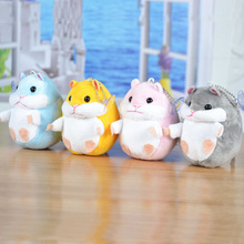 ФОТО 4 pcs/set cricetidae plush toy 9.5*7.5 cm dolls for children high quality soft cotton baby brinquedos  animals for gift