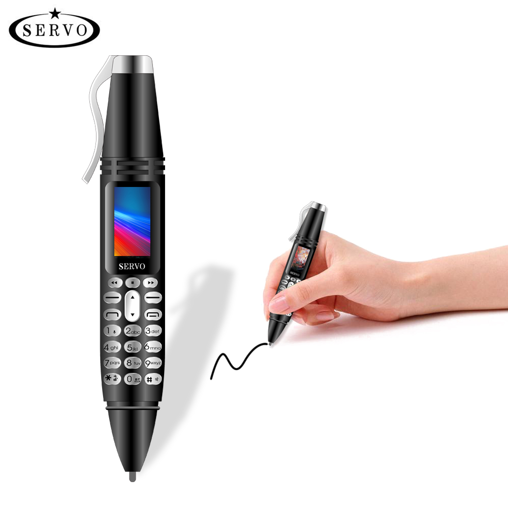 SERVO K07 Pen mini Cellphone 0.96 Tiny Screen GSM Dual SIM Camera Flashlight Bluetooth Dialer Mobile Phones with Recording pen