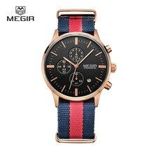 Megir Cronógrafo Hombres Reloj Reloj de Los Hombres de Primeras Marcas de Lujo Fecha de Cuarzo Reloj Casual Sport reloj de Los Hombres relogio masculino 2011-1
