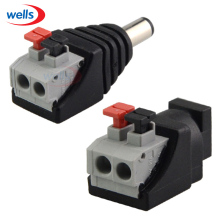 Male Female DC Power 2.1 x 5.5mm Plug Jack Adapter Connector Plug for 5050 3528 Single Color LED Strip Light and CCTV Camera
