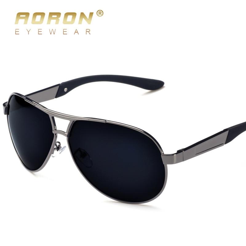AORON Mens Glasses Polarized Sunglasses Male Driver's Goggles Mirror Polarized Sun Glasses Metal Frame
