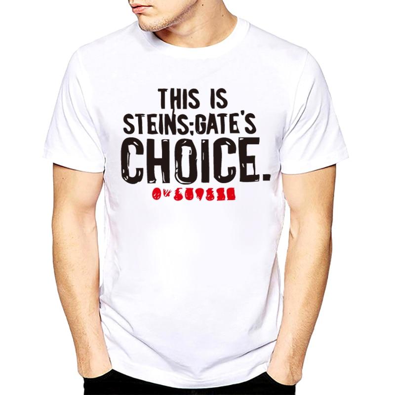 New Fashion New Steins Gate El Psy Congroo Anime Mens Black T-shirt Size Cool Casual Pride T Shirt Men Unisex Fashion Tshirt Free Shipping T-shirts